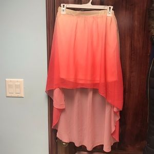 Charlotte Russe High love ombré skirt